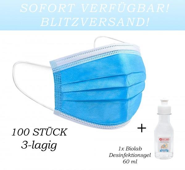 44929_100x_Mundschutz_Maske_3-lagig_Hygiene_Einweg_Gummiband_Mundbedeckung