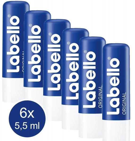 44654_6x_5,5ml_Labello_Original_Classic_Lippenpflege_Lippenpflegestift_Lippenbalsam
