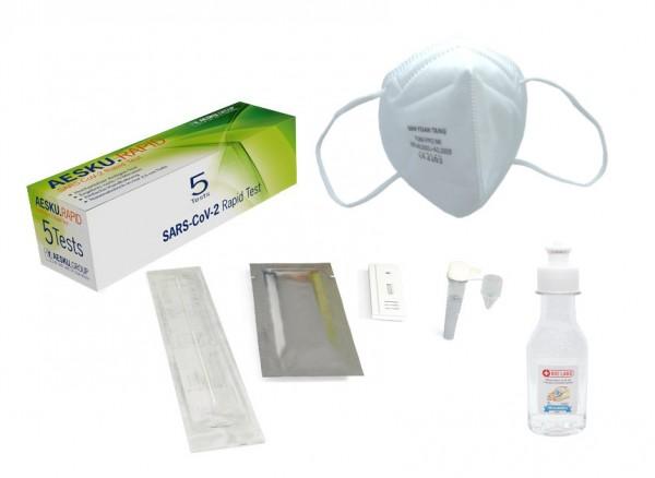 46541_5x_Aesku_Rapid_SARS-CoV-2_Antigen_Selbsttest_+_1x_Handdesinfektionsmittel_+_10x_FFP2_Masken